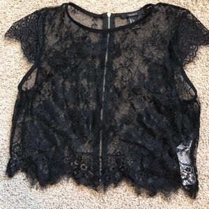 Forever 21 Sheer Lace crop top